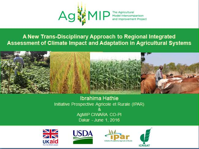 Agricultural Model Intercomparison Improvement Project (AgMIP), présenté à l'USAID Sénégal